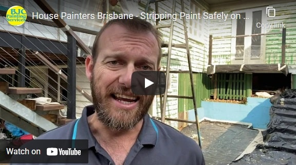 Stripping Paint Safely on a house in Brisbane