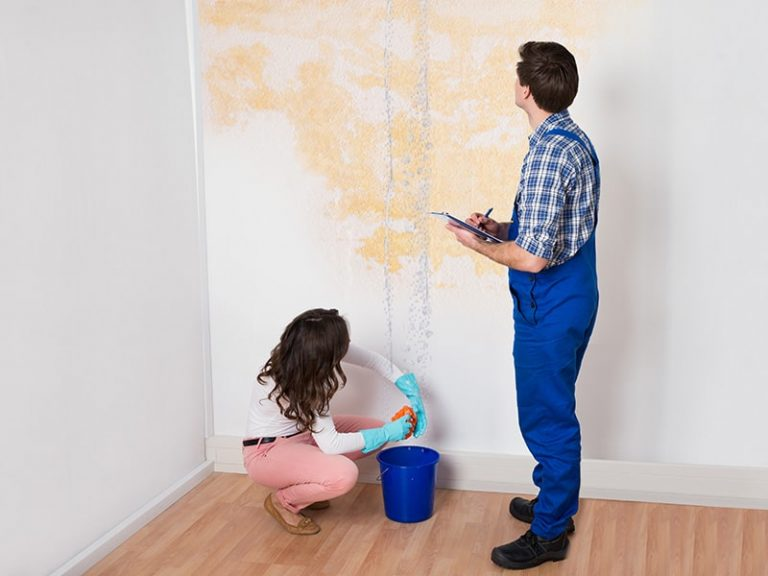 Development of a yellow cast on walls